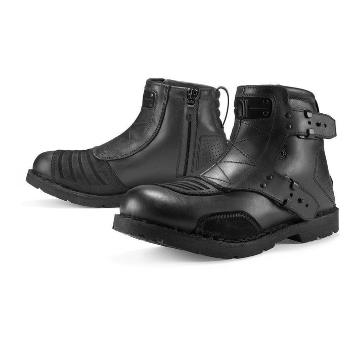 ICON 1000 El Bajo Boots Men's Motorcycle Boots Icon Black 8