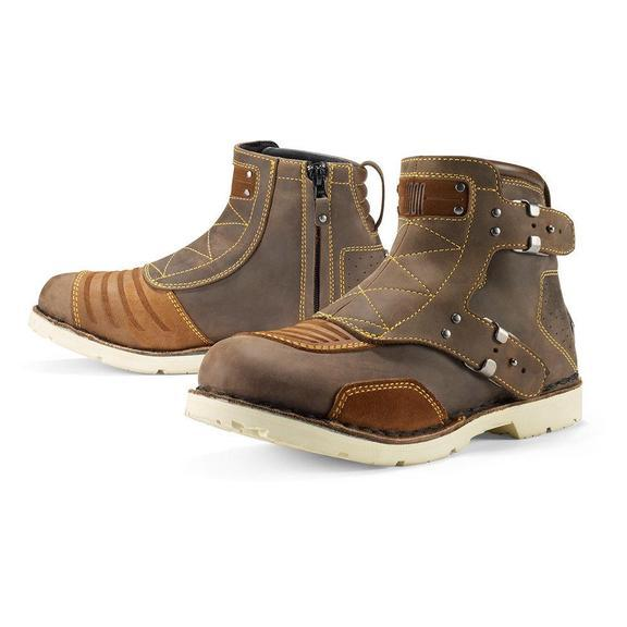 ICON 1000 El Bajo Boots Men's Motorcycle Boots Icon Brown 8