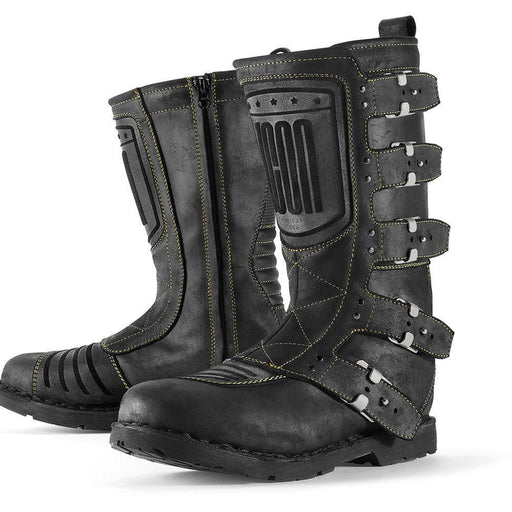 ICON 1000 ELSINORE Boots Men's Motorcycle Boots Icon Johnny Black 8