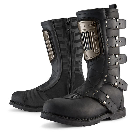 ICON 1000 ELSINORE HP Boots Men's Motorcycle Boots Icon Black 8