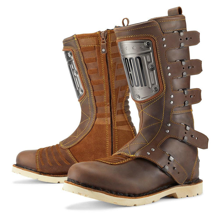 ICON 1000 ELSINORE HP Boots Men's Motorcycle Boots Icon Brown 8