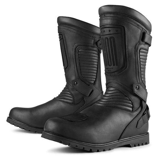 ICON 1000 Prep Boots Men's Motorcycle Boots Icon Stealth 8
