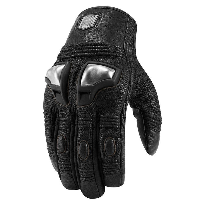 Icon 1000 Retrograde Gloves Men's Motorcycle Gloves Icon Black S