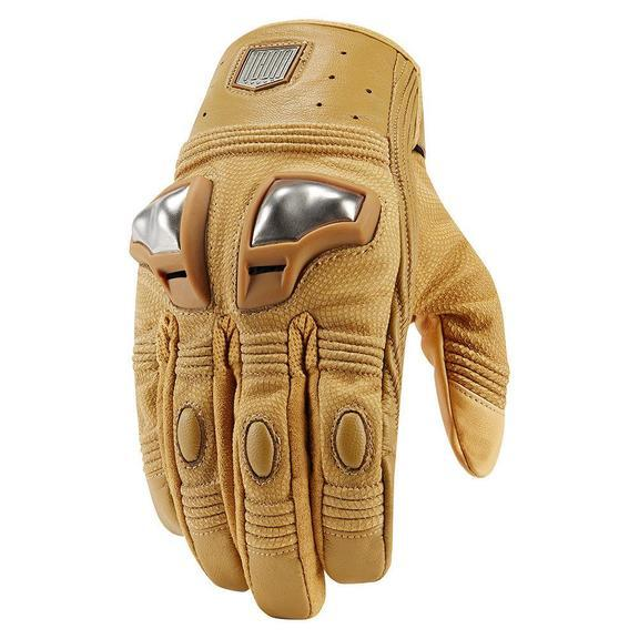 Icon 1000 Retrograde Gloves Men's Motorcycle Gloves Icon Tan S