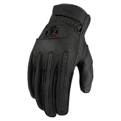 Icon 1000 Rimfire Gloves Men's Motorcycle Gloves Icon Black S