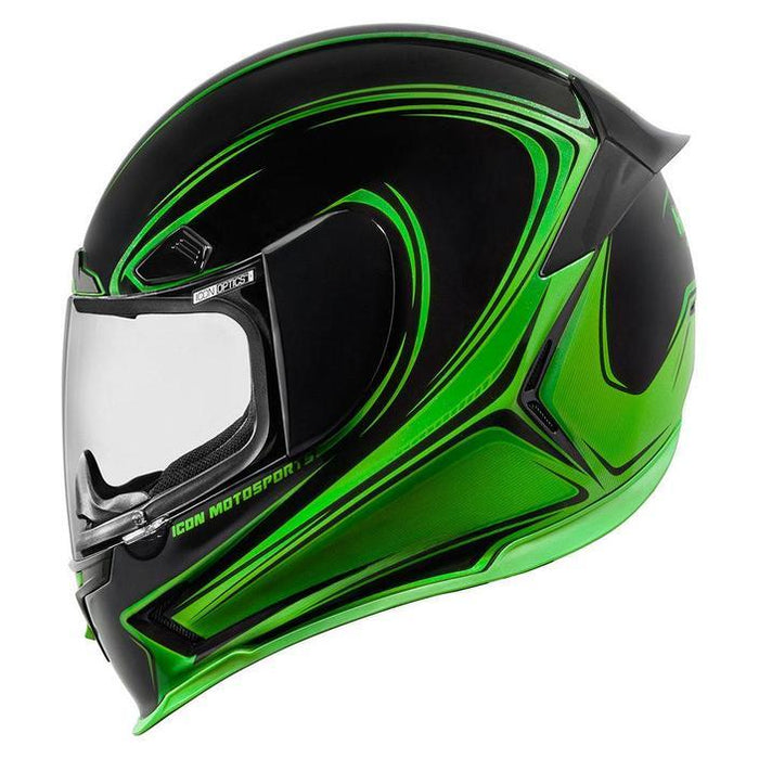 Icon Airframe Pro Halo Helmets Motorcycle Helmets Icon Green XS