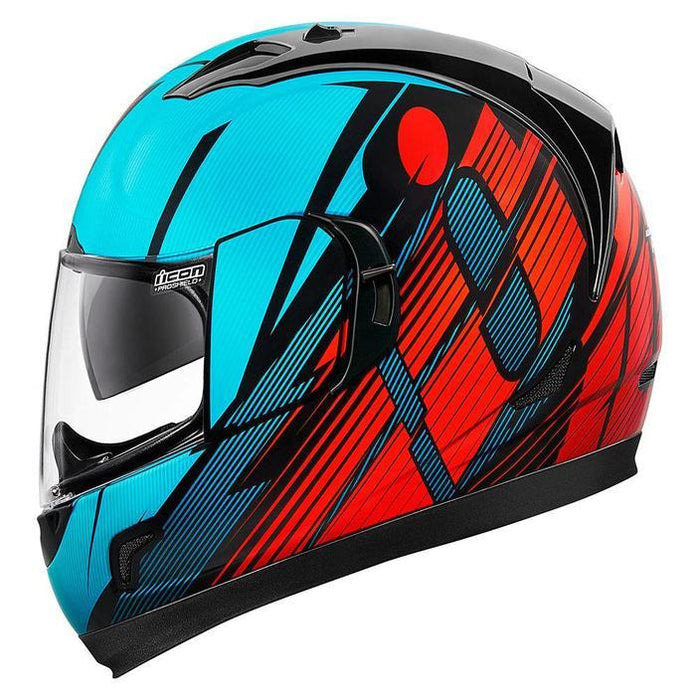 Icon Alliance GT Primary Helmets Motorcycle Helmets Icon Blue/Red XS