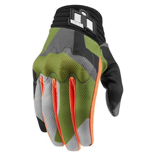 Icon Anthem Deployed Touchscreen Gloves Men's Motorcycle Gloves Icon Green SM