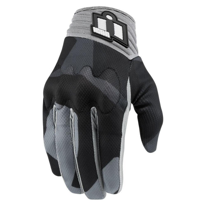 Icon Anthem Deployed Touchscreen Gloves Men's Motorcycle Gloves Icon Grey SM
