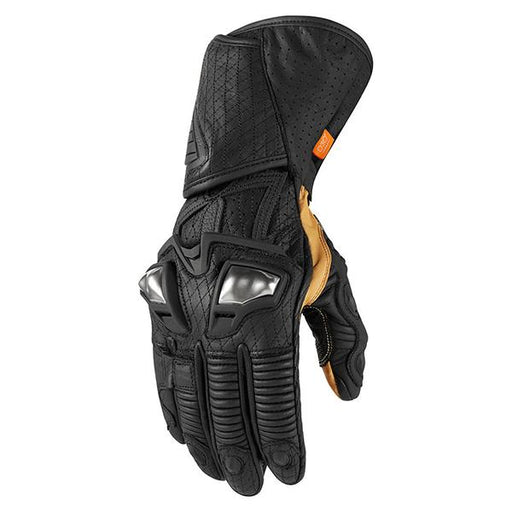 Icon Hypersport GP Gloves Men's Motorcycle Gloves Icon Black S