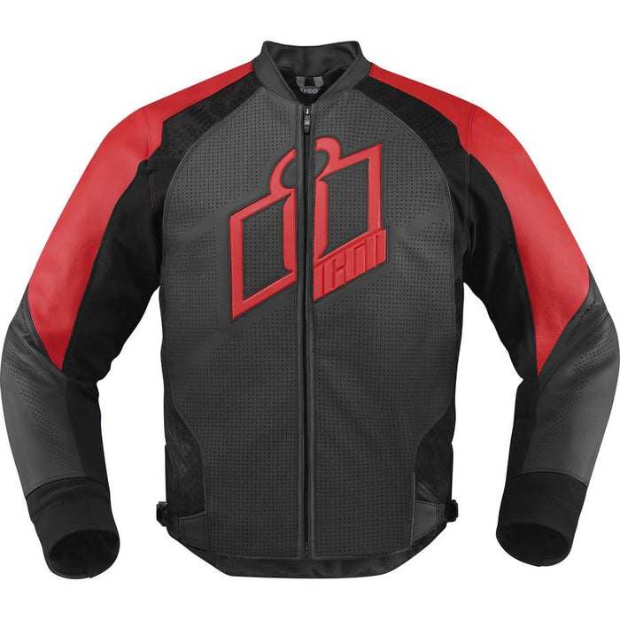 Icon Hypersport Leather Jackets Men's Motorcycle Jackets Icon Red S