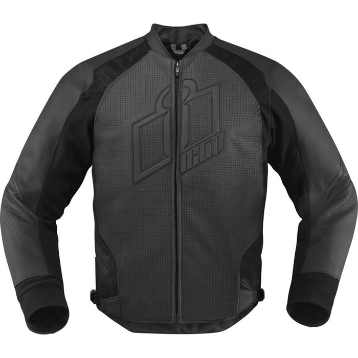 Icon Hypersport Leather Jackets Men's Motorcycle Jackets Icon Stealth 3XL