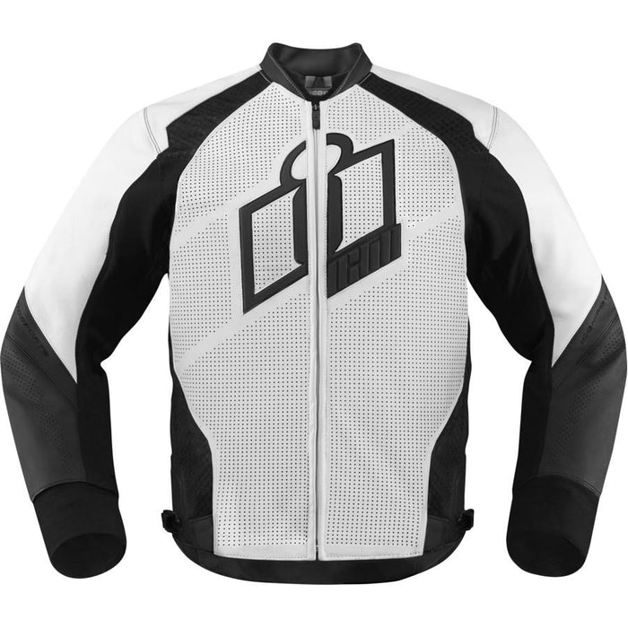 Icon Hypersport Leather Jackets Men's Motorcycle Jackets Icon White S