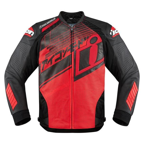 Icon Hypersport Prime Hero Jackets Men's Motorcycle Jackets Icon Red S
