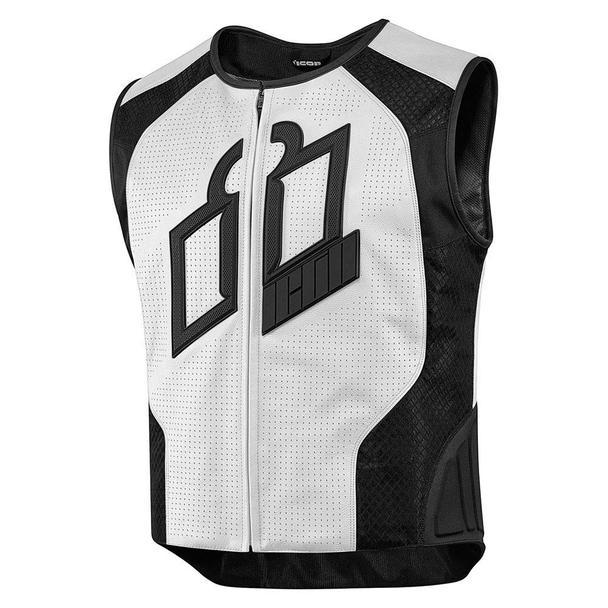 Icon Hypersport Prime Vests Men's Motorcycle Jackets Icon White SM