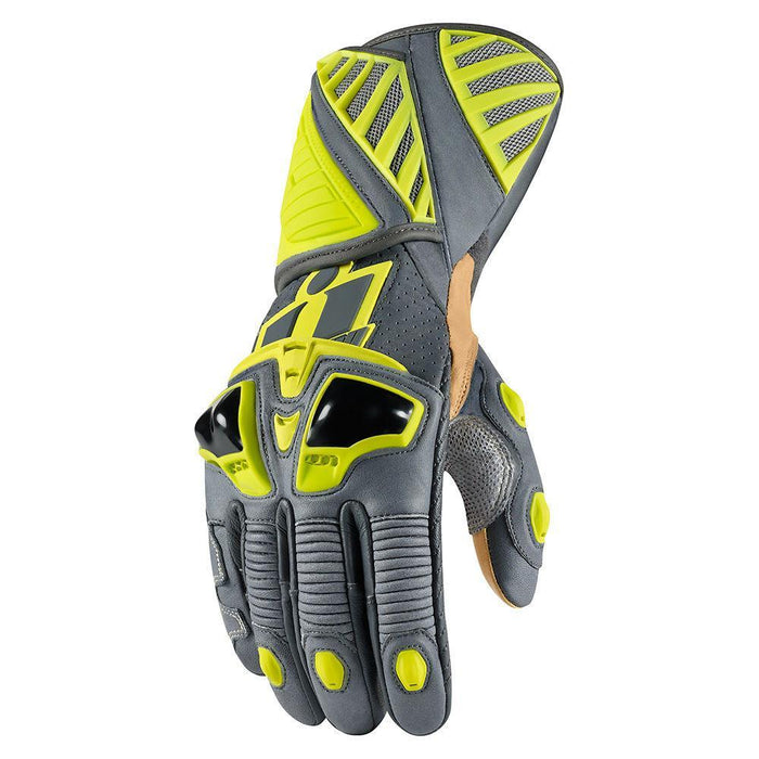 Icon Hypersport Pro Long Gloves Men's Motorcycle Gloves Icon Hi-Viz S