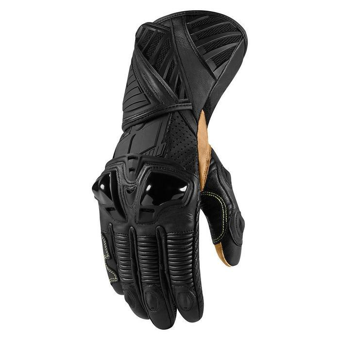 Icon Hypersport Pro Long Gloves Men's Motorcycle Gloves Icon Stealth S