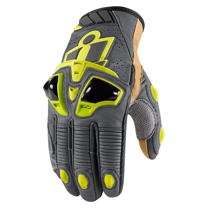 Icon Hypersport Pro Short Gloves Men's Motorcycle Gloves Icon Hi Viz S