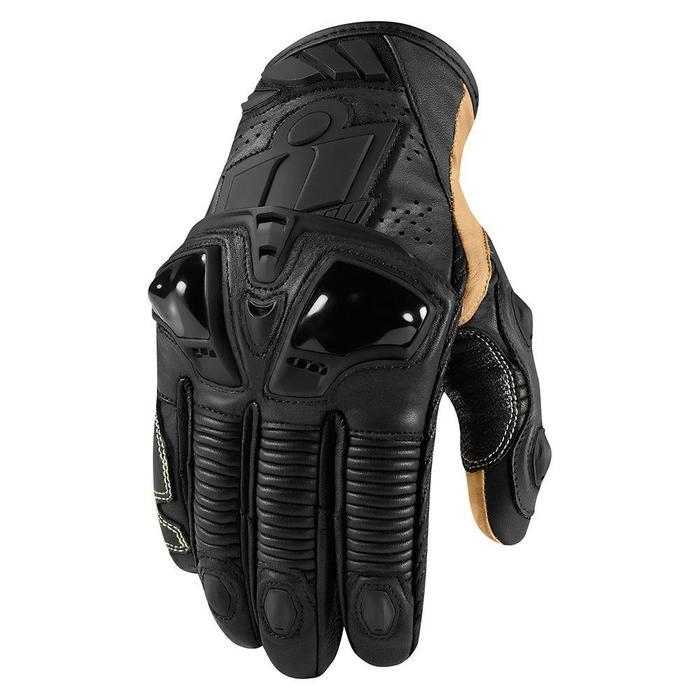 Icon Hypersport Pro Short Gloves Men's Motorcycle Gloves Icon Stealth S