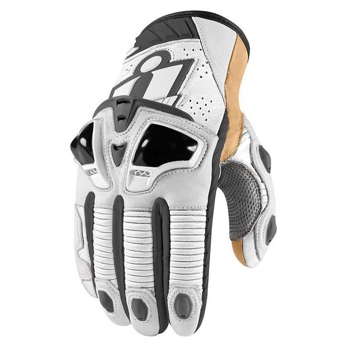 Icon Hypersport Pro Short Gloves Men's Motorcycle Gloves Icon White S