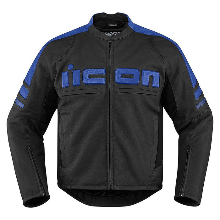 Icon Motorhead 2 Leather Jackets Men's Motorcycle Jackets Icon Blue S