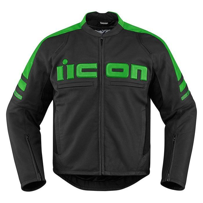 Icon Motorhead 2 Leather Jackets Men's Motorcycle Jackets Icon Green S