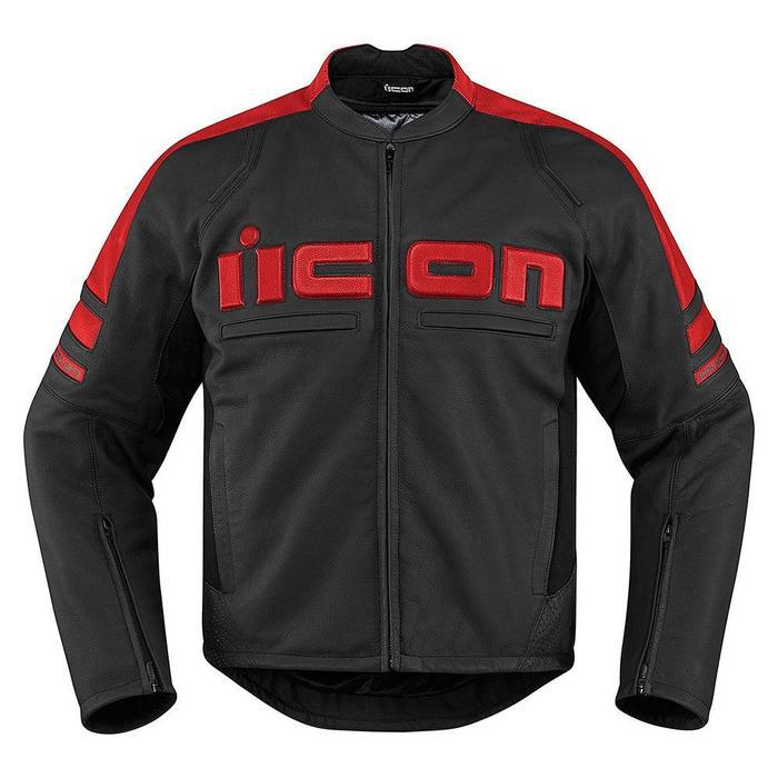Icon Motorhead 2 Leather Jackets Men's Motorcycle Jackets Icon Red S
