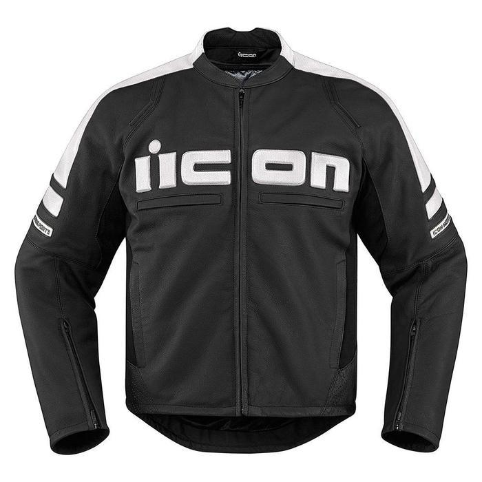 Icon Motorhead 2 Leather Jackets Men's Motorcycle Jackets Icon White S