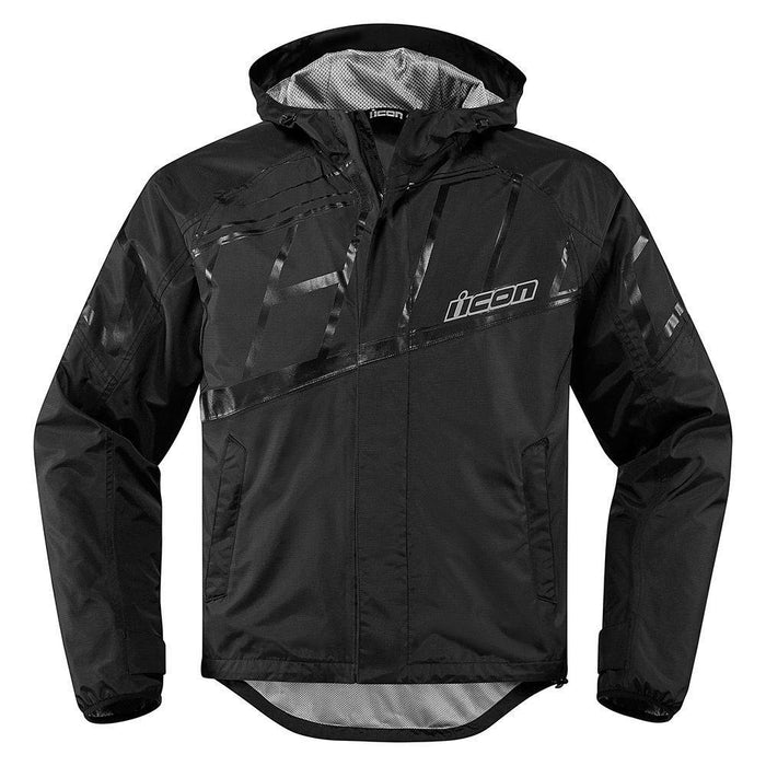Icon PDX 2 Waterproof Jackets Rain Suits Icon Black S