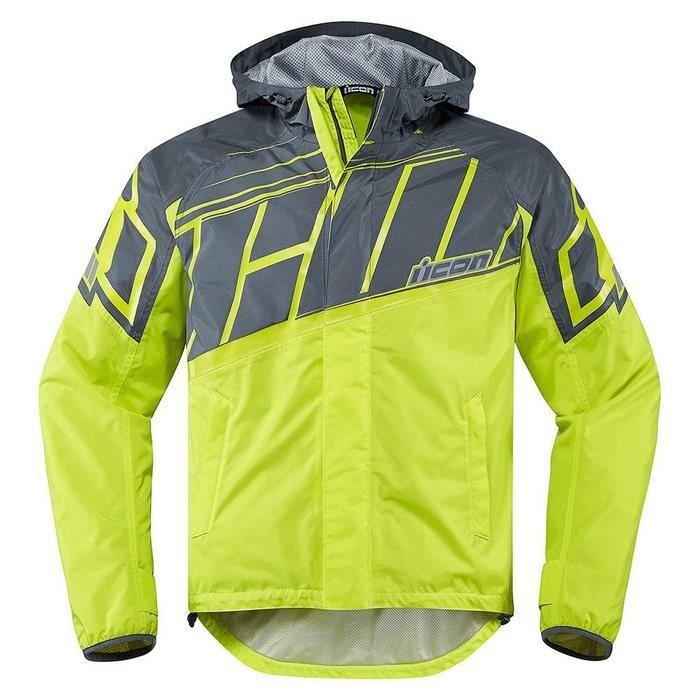 Icon PDX 2 Waterproof Jackets Rain Suits Icon Hi Viz S