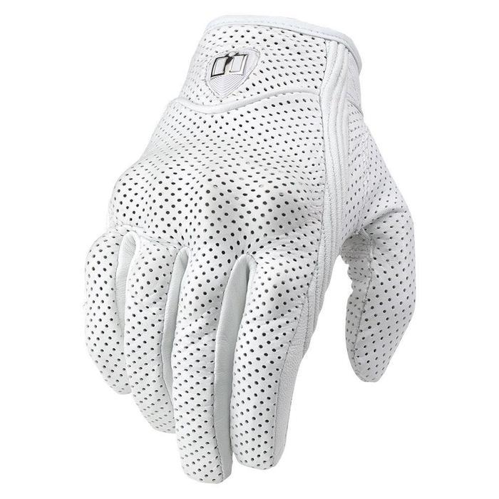 Icon Pursuit Women's Glove in Black Women's Motorcycle Gloves Icon White M