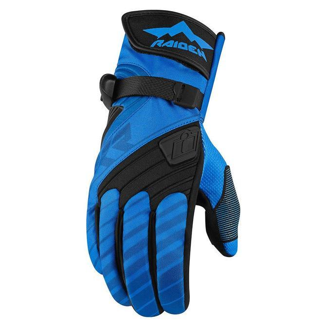 Icon Raiden DKR Gloves Men's Motorcycle Gloves Icon Blue S