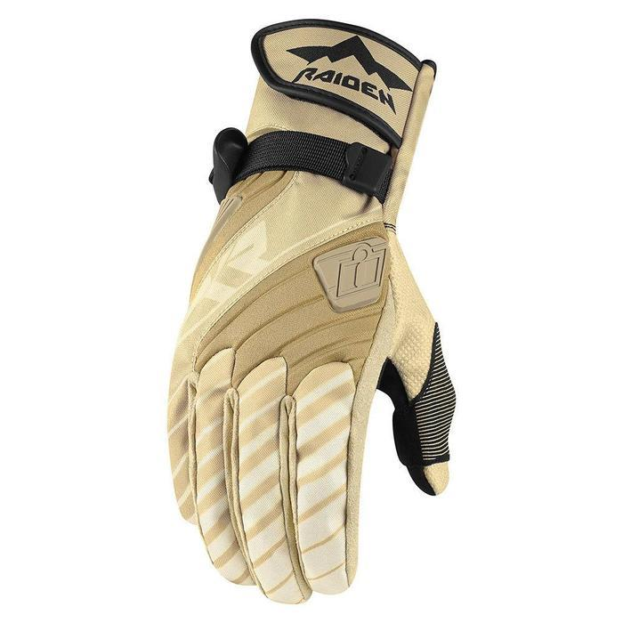 Icon Raiden DKR Gloves Men's Motorcycle Gloves Icon Tan S