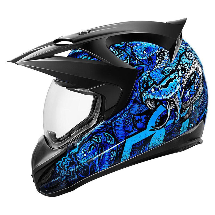 Icon Variant Cottonmouth Helmets Motorcycle Helmets Icon Blue XS