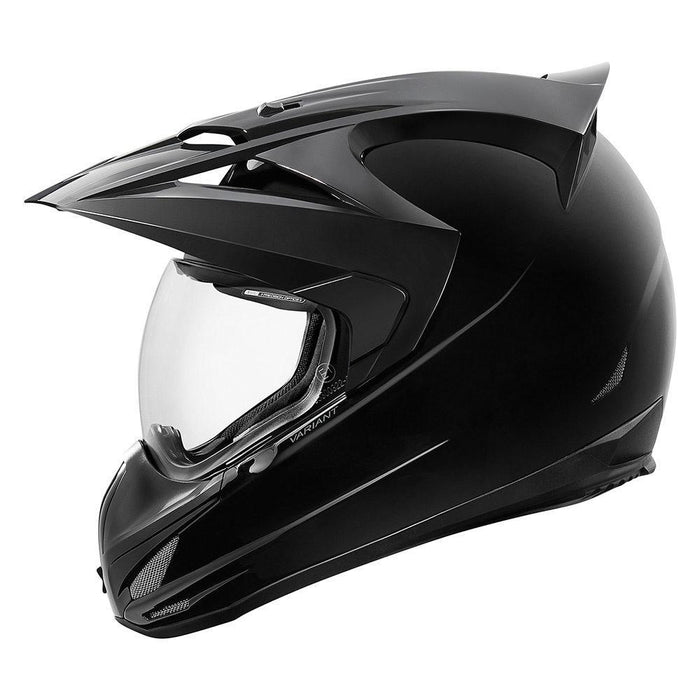 Icon Variant Gloss Helmets Motorcycle Helmets Icon Black XS