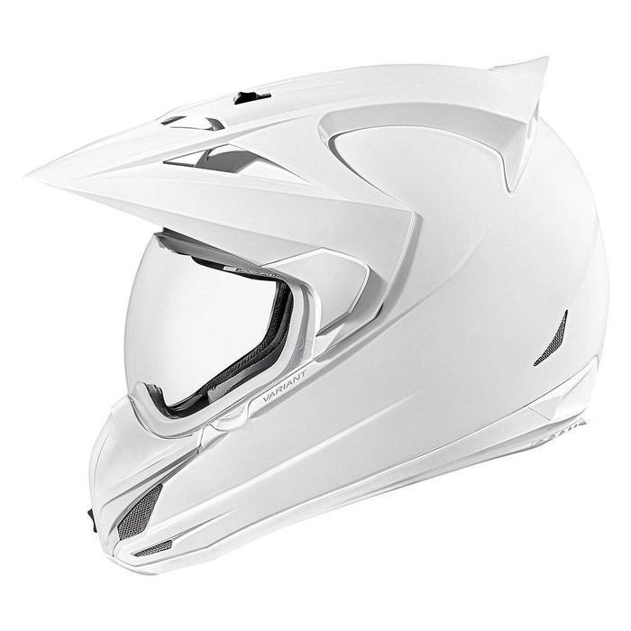 Icon Variant Gloss Helmets Motorcycle Helmets Icon White XS