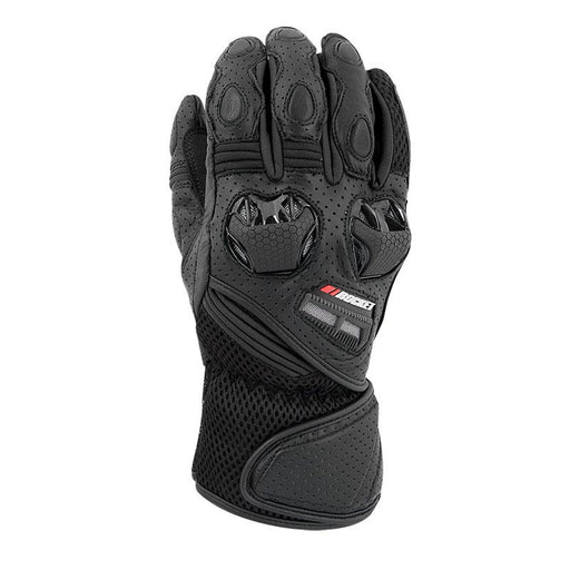 JOE ROCKET Highside Air Leather/Mesh Gloves in Black Men's Motorcycle Gloves Joe Rocket Black S