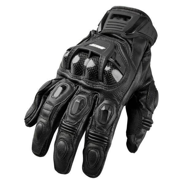 JOE ROCKET Men's Blaster SR Leather Gloves Men's Motorcycle Gloves Joe Rocket Black Small