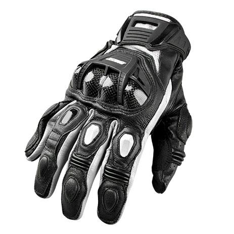 JOE ROCKET Men's Blaster SR Leather Gloves Men's Motorcycle Gloves Joe Rocket White/Black Small