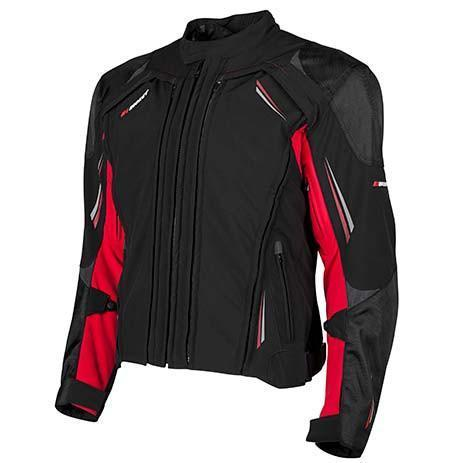 JOE ROCKET Men's Trans Canada 2.0 Jackets Men's Motorcycle Jackets Joe Rocket Black/Red M