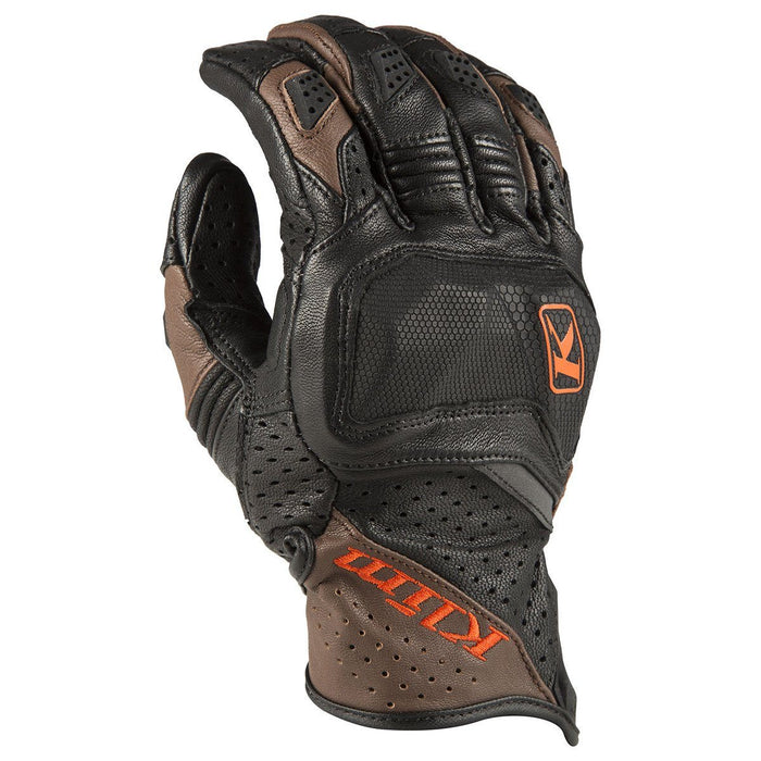 KLIM Badlands Aero Pro Short Gloves Men's Motorcycle Gloves Klim Brown SM