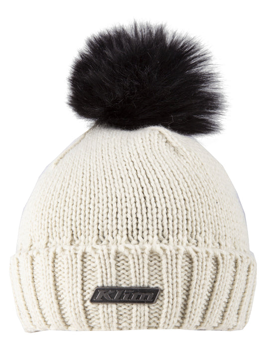 KLIM Pom Beanies Women's Casual Klim One Size Fits All Natural - Black