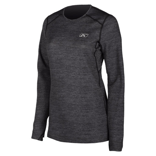 KLIM Solstice Shirt 2.0 - NEW COLORWAY! Women's Base Layers Klim Black Heather XS