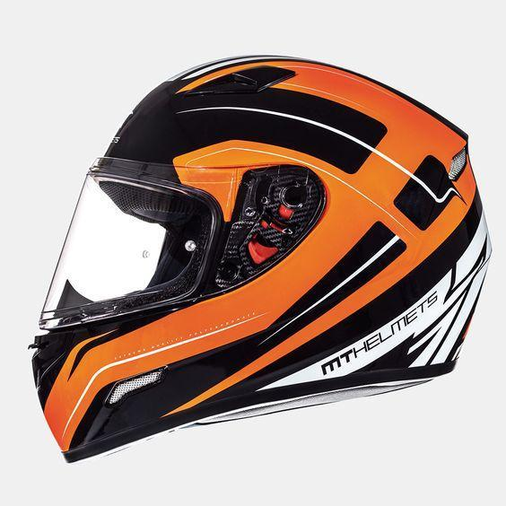 MT HELMETS Mugello Maker Helmets Motorcycle Helmets MT Helmets Fluo Orange XS