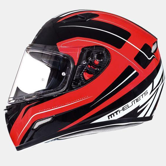 MT HELMETS Mugello Maker Helmets Motorcycle Helmets MT Helmets Red XS