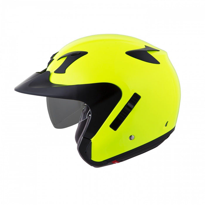 Scorpion Helm EXO-CT220 Solid Dot in Neon Yellow Motorcycle Helmets Scorpion