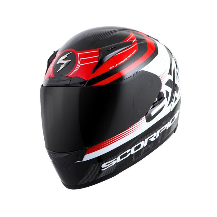 Scorpion Helm EXO-R2000 Fortis Snell 2015/Dot in Black/Red Motorcycle Helmets Scorpion