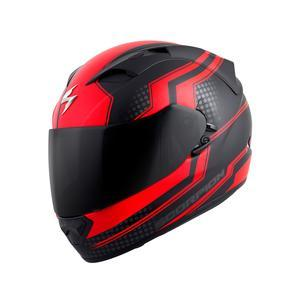 Scorpion Helm EXO-T1200 Alias Dot in Black/Red Motorcycle Helmets Scorpion