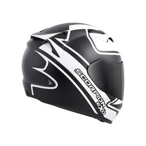 Scorpion Helm EXO-T1200 Freeway Dot in Matte Black/White Motorcycle Helmets Scorpion
