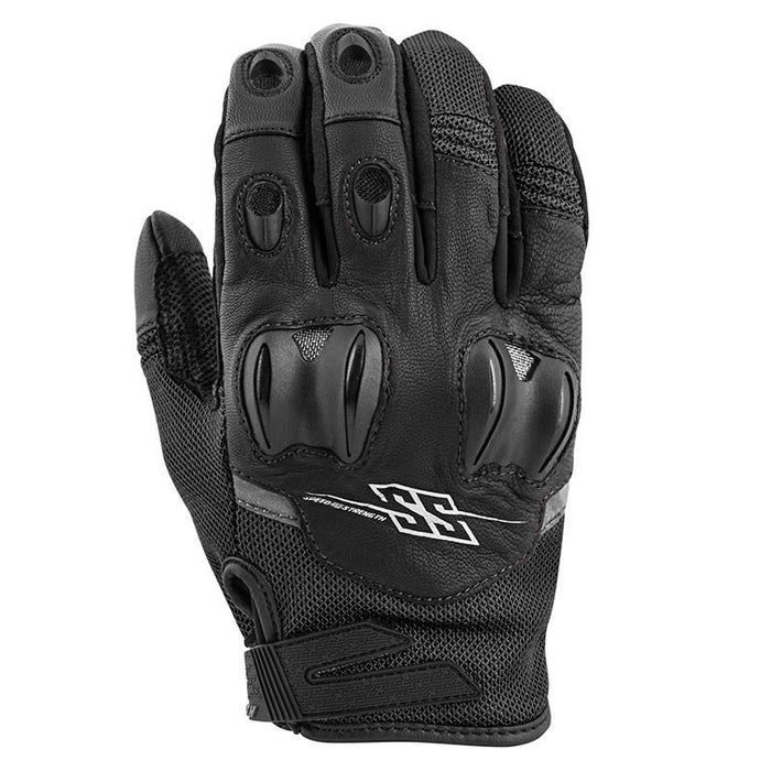 SPEED AND STRENGTH Power and The Glory™ Leather/Mesh Gloves Men's Motorcycle Gloves SPEED AND STRENGTH Black S